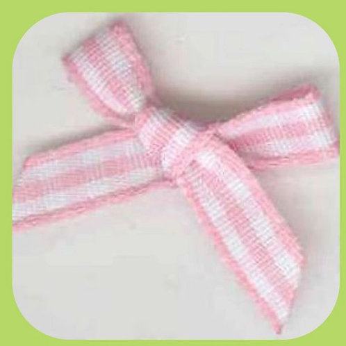 PINK GINGHAM BOWS 10 PACK