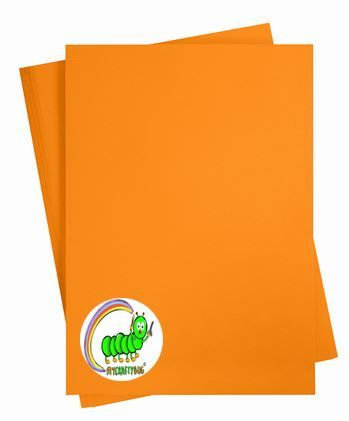 ORANGE CARD STOCK - 10 X A4 SHEETS - 180 GSM