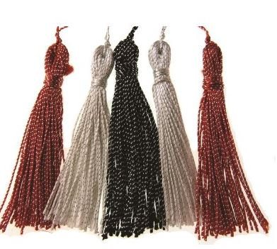 TASSEL PACK - CO-ORDINATES RANGE- BLK/WHTE/RED - 5 PCS