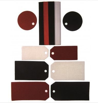 TAGS & RIBBONS SMALL RED, WHITE & BLACK