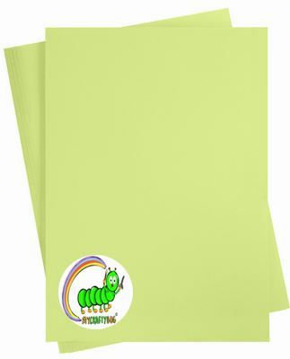 LIME GREEN CARD STOCK - 10 X A4 SHEETS - 180 GSM