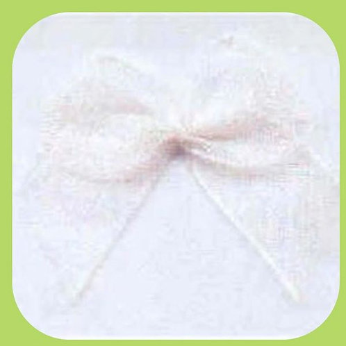 SHEER BOWS PACK OF 10 - WHITE