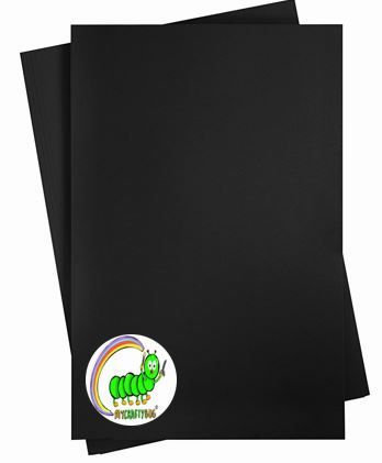 BLACK A4 200gsm Card Stock - 10 pack