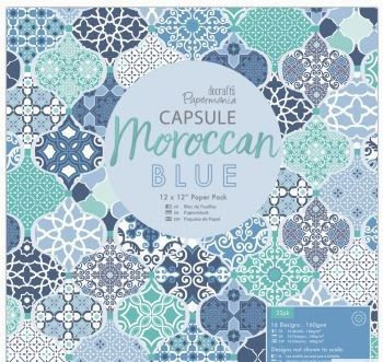 "12 x 12"" Paper Pack (32pk) - Moroccan Blue"