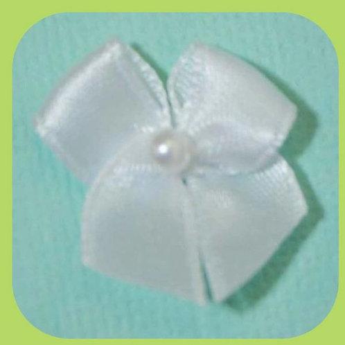 PEARL BOWS WHITE X 10