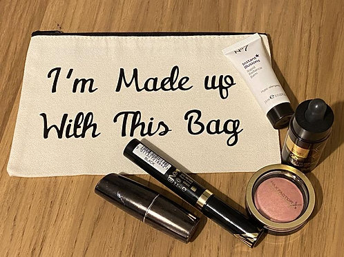 PERSONALISED MAKE UP BAG - 5 COLOURS