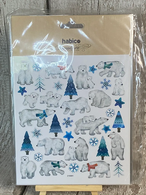 NORDIC STYLE POLAR BEAR STICKER SET