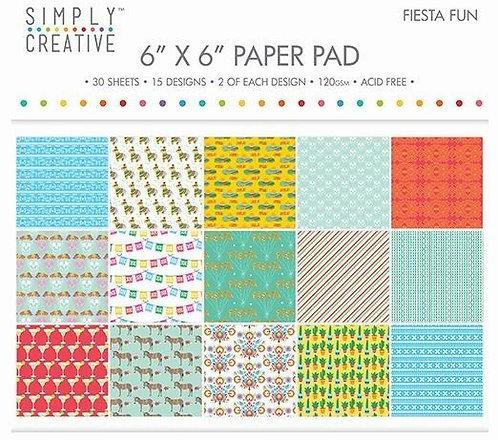 6 x 6 paper pad Fiesta Fun