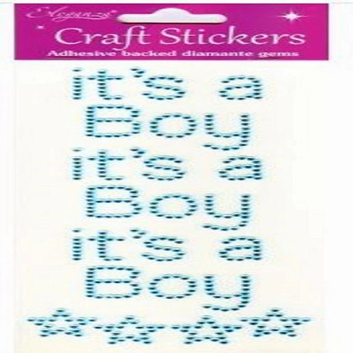 ITS A BOY CRAFT STICKERS - BLUE