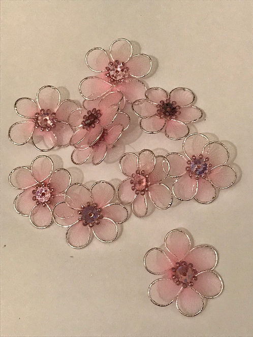 PINK MESH FLOWERS PACK - CO-ORDINATIONS RANGE