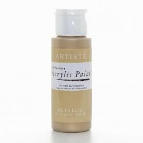 """METALLIC ARYLIC PAINT BY """"ARTISTE""""  ANTIQUE GOLD"""