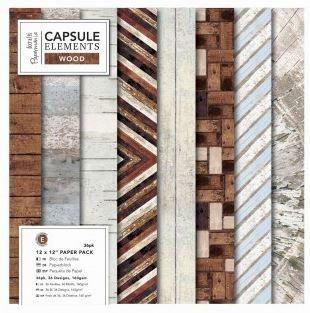 "12 x 12"" Paper Pack (36pk) - Elements Wood"