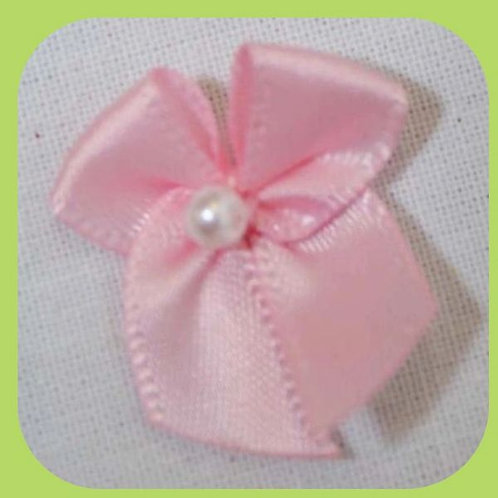 PEARL BOWS PINK X 10
