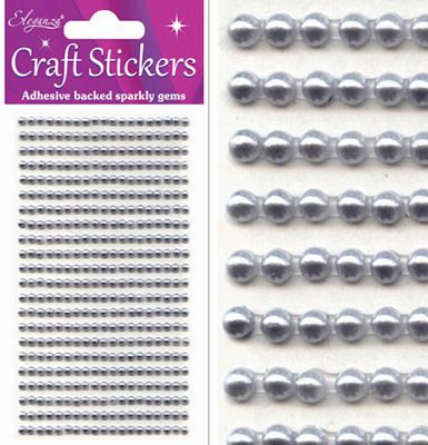 Flat  back self adhesive pearls in rows 418 in pack