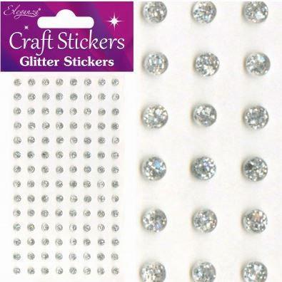 GLITTER GEMS - 8MM - SILVER