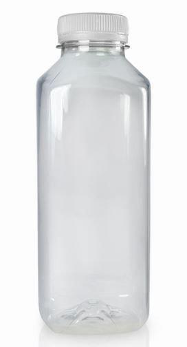 Bottles -Plastic Square - 500 ml