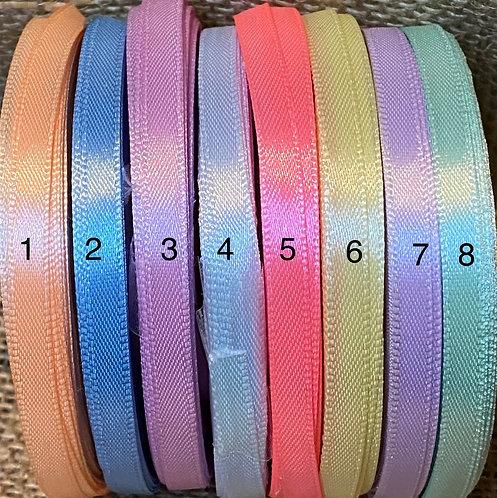 6mm Silk Ribbon - PASTELS - 11 colours