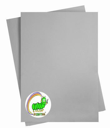 GREY (STEEL) CARD STOCK 10 X SHEETS A4 - 180GSM