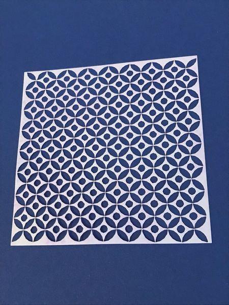geometric pattern stencil square 13cm x 13 cm