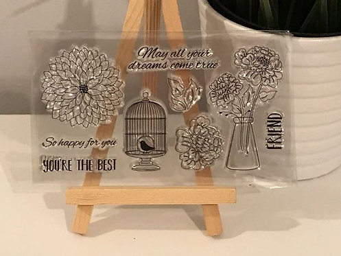 Mini Stamp Set birds & florals