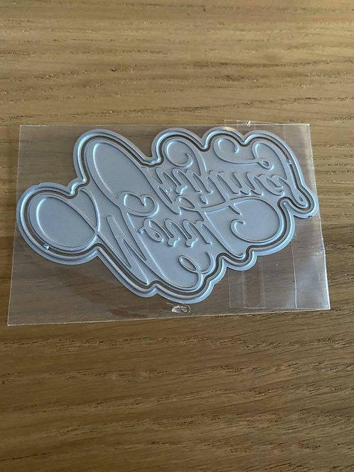 MERRY CHRISTMAS SENTIMENT HOT FOIL DIE AND CUTTING DIE
