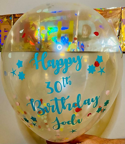 BALLOON DECALS - ANY NAME OR WORDING !