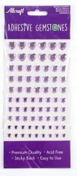 HEART GEMS 4 SIZES - 87 PACK - LILAC