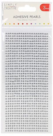 SELF ADHESIVE - FAUX PEARLS SILVER -800 X 3MM