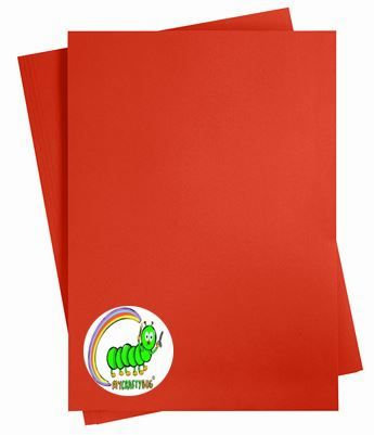 PILLOW BOX RED CARD STOCK A4 X 10 SHEETS - 180 GSM