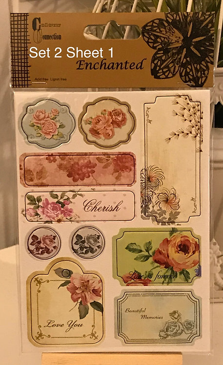 CHIPBOARD STICKER SHEETS X 2 - GREAT THICK, QUALITY EMBELLIHMENTS