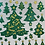 Thumbnail: GREEN & GOLD CHRITMAS TREES AND ICONS LARGE STICKER SHEET