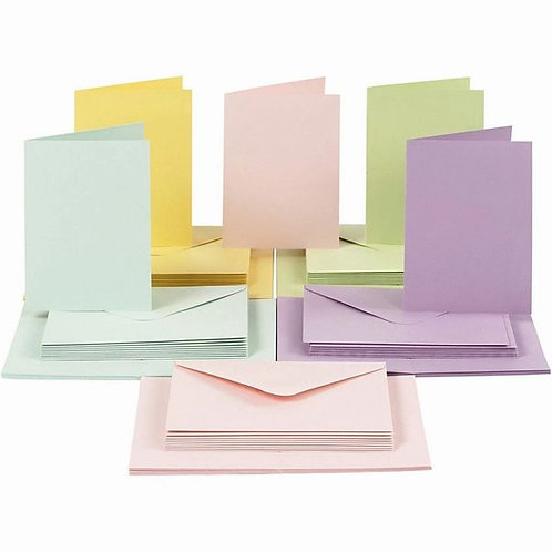 Pastel Card Blank and Envelopes 10.5x15 cm (10 Pack)