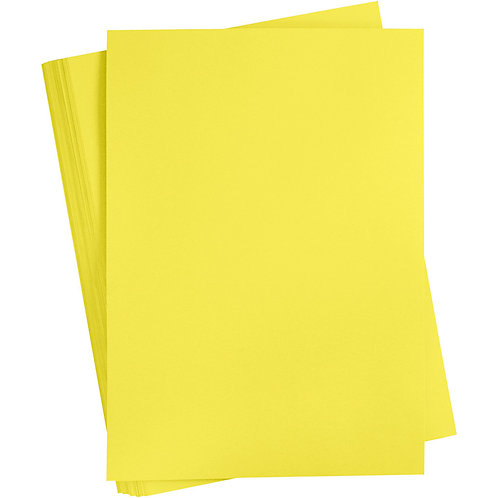 SUN YELLOW - CARD STOCK - A4 X 10 SHEETS - 180 GSM