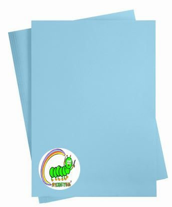 SKY BLUE CARD STOCK - 180 GSM - 10 X A4 SHEETS