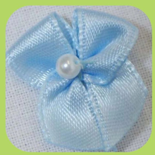 PEARL BOWS BABY BLUE X 10