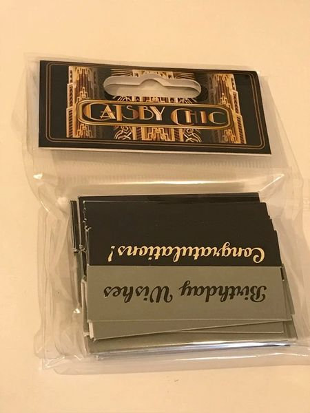 """GREAT GATSBY """" JUST WORDS"""" (100) PACK"""
