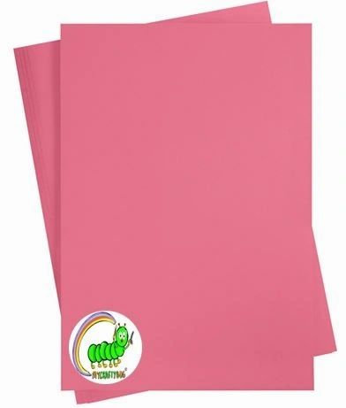 ANTIQUE (HOT) PINK CARD STOCK A4 X 10 SHEETS - 180 GSM