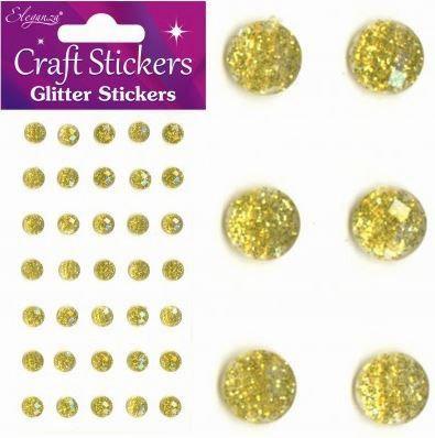 GLITTER GEMS - 4MM -GOLD