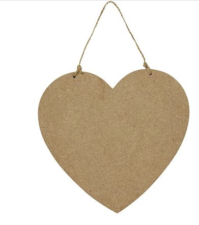 HEART HANGING SIGN/PALQUE