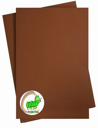 BROWN (COFFEE) CARD STOCK- 10 X A4 SHEETS -180 GSM