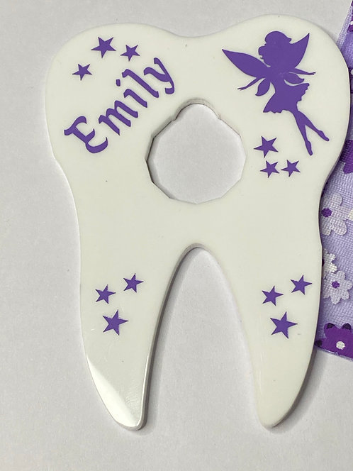 TOOTHFAIRY GIFT HOLDER (£1 COIN) - PERSONALISED