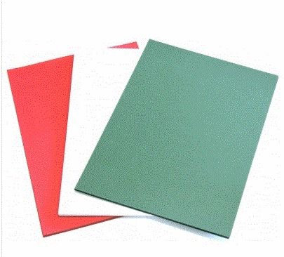 RED, GREEN & WHITE A4 CARD PACK 12 PACK - 4 OF EACH - 280GSM