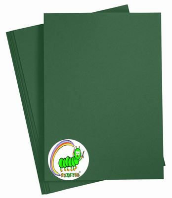 FIR GREEN CARD STOCK A4 x 10 SHEETS - 180 GSM