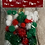 Thumbnail: LARGE BAG OF POMS POMS - RED,WHITE,GREEN WITH TINELS