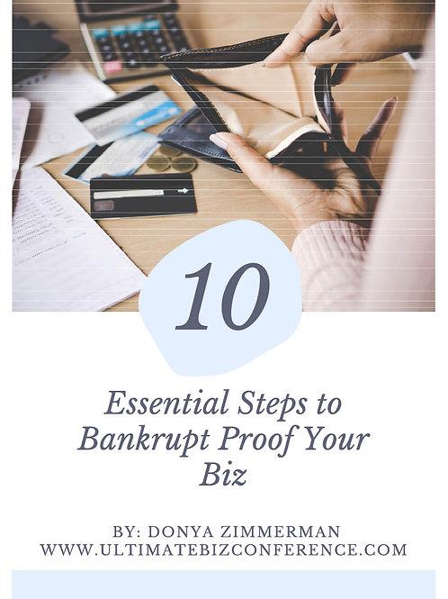 Bankrupt Proof Your Biz E-Book