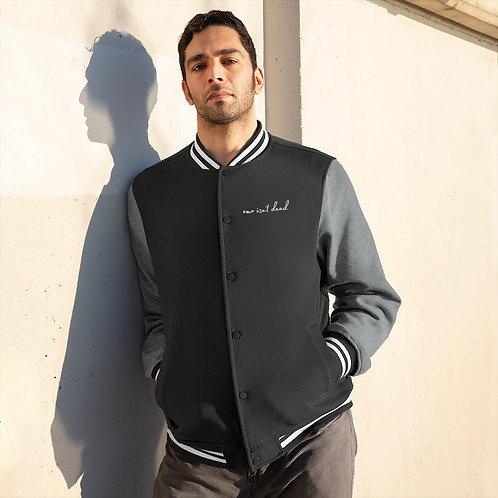 eMo iSn'T dEaD Varsity Jacket
