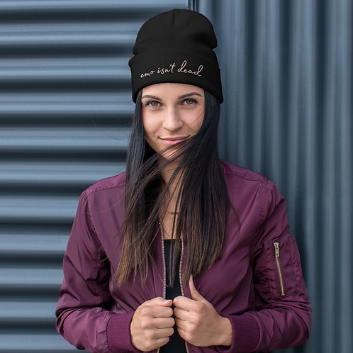 eMo iSn'T dEaD Embroidered Beanie