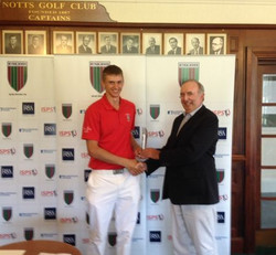 Winning Faldo Series at Notts GC