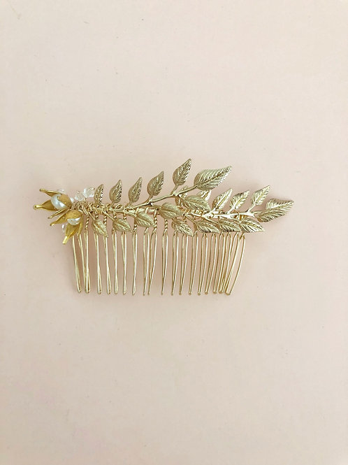 71 Gold Olive hair comb