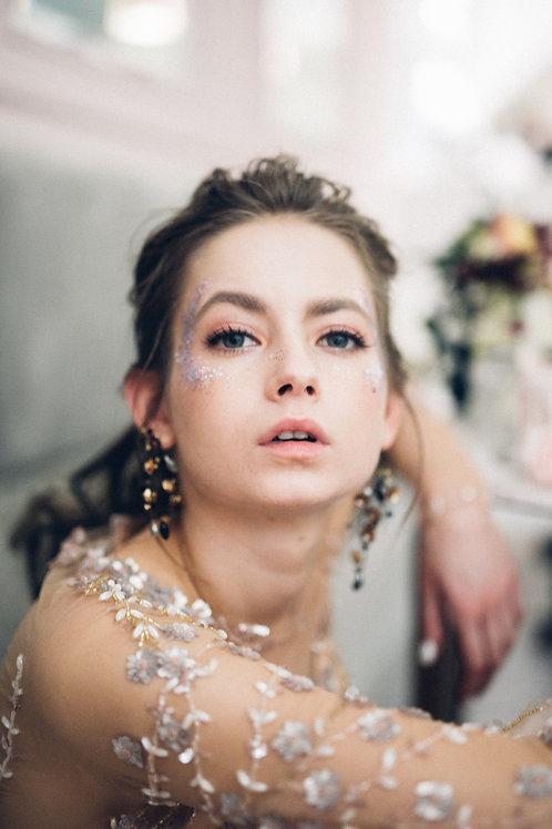 Black gold Myra earrings